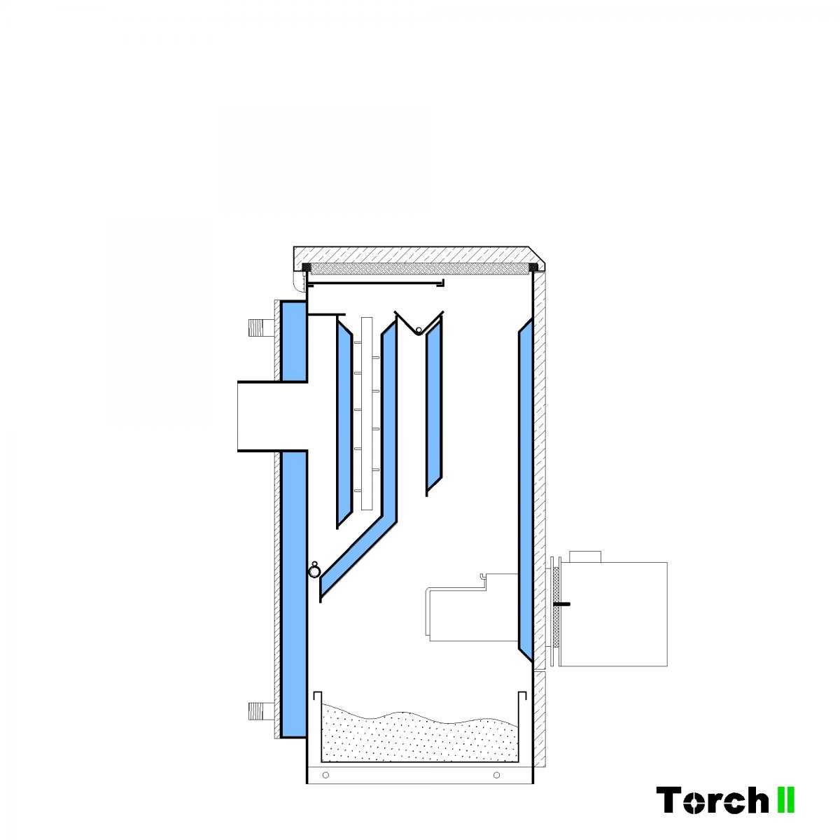 Почистване на пелетен котел Torch II - стъпка 1