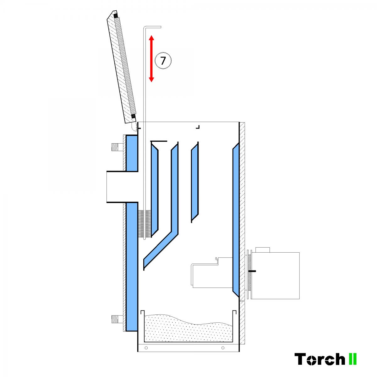 Почистване на пелетен котел Torch II - стъпка 4