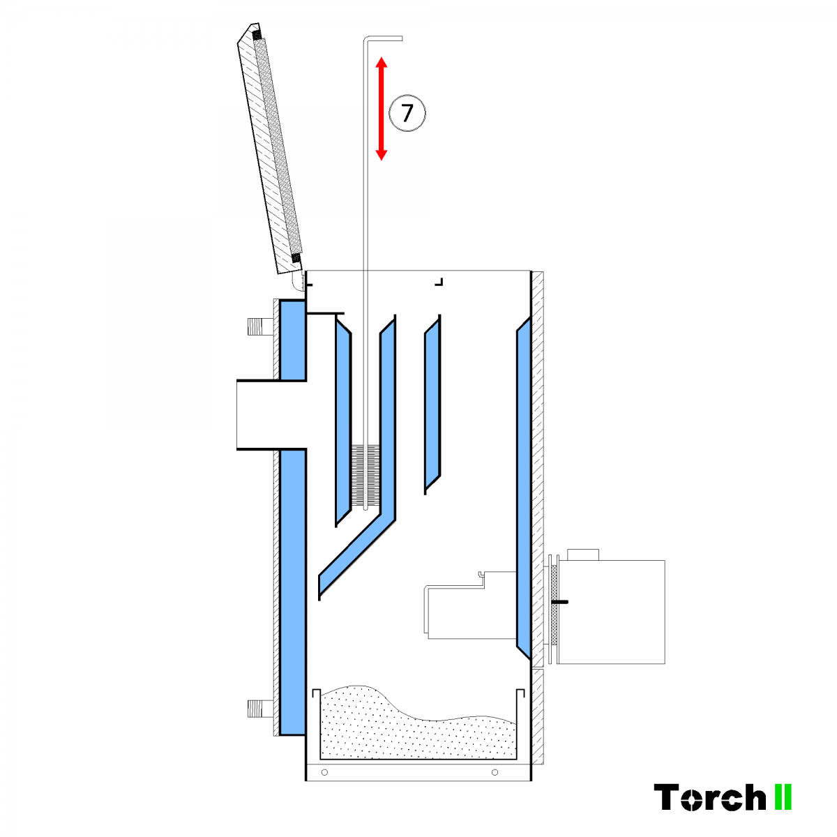 Почистване на пелетен котел Torch II - стъпка 5