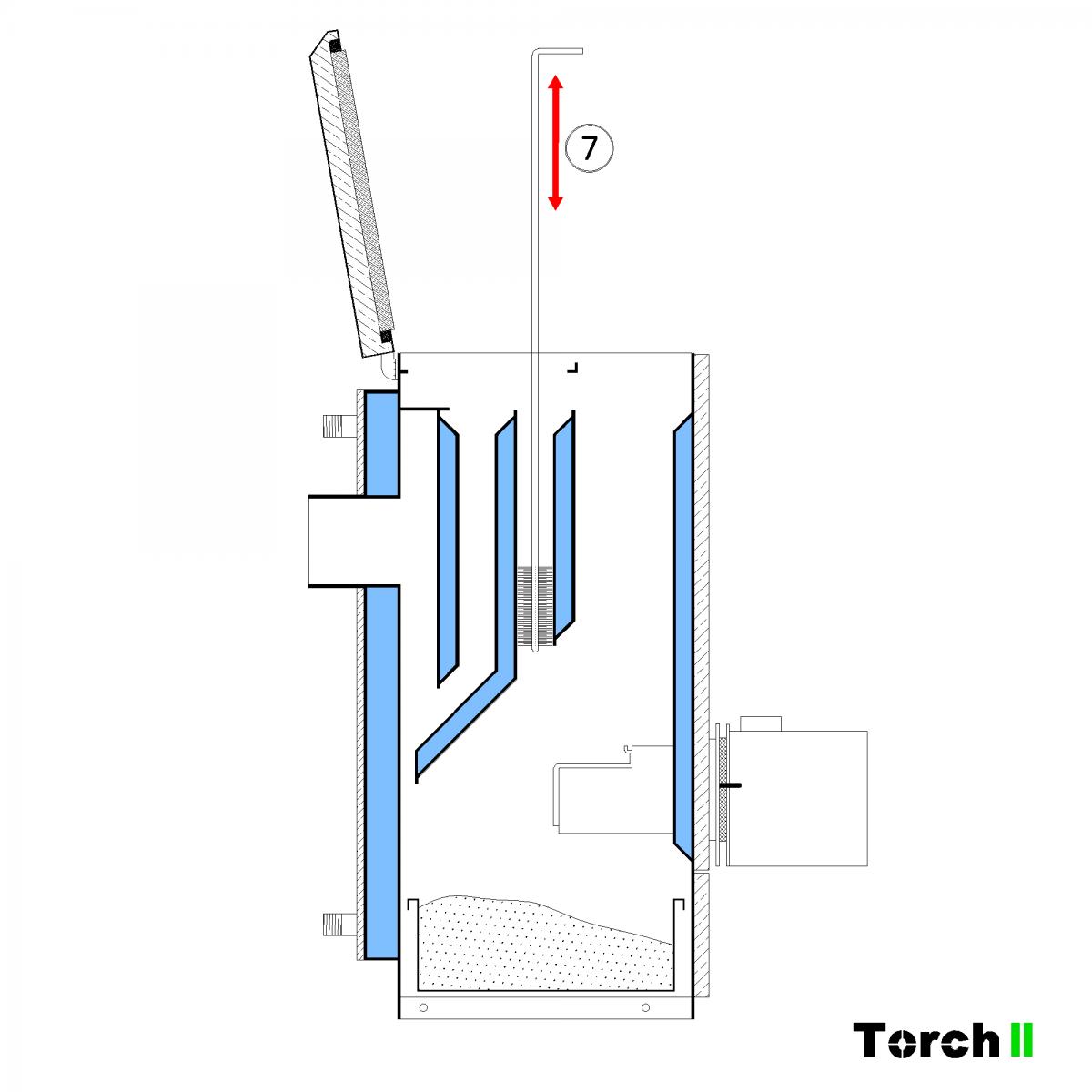 Почистване на пелетен котел Torch II - стъпка 6