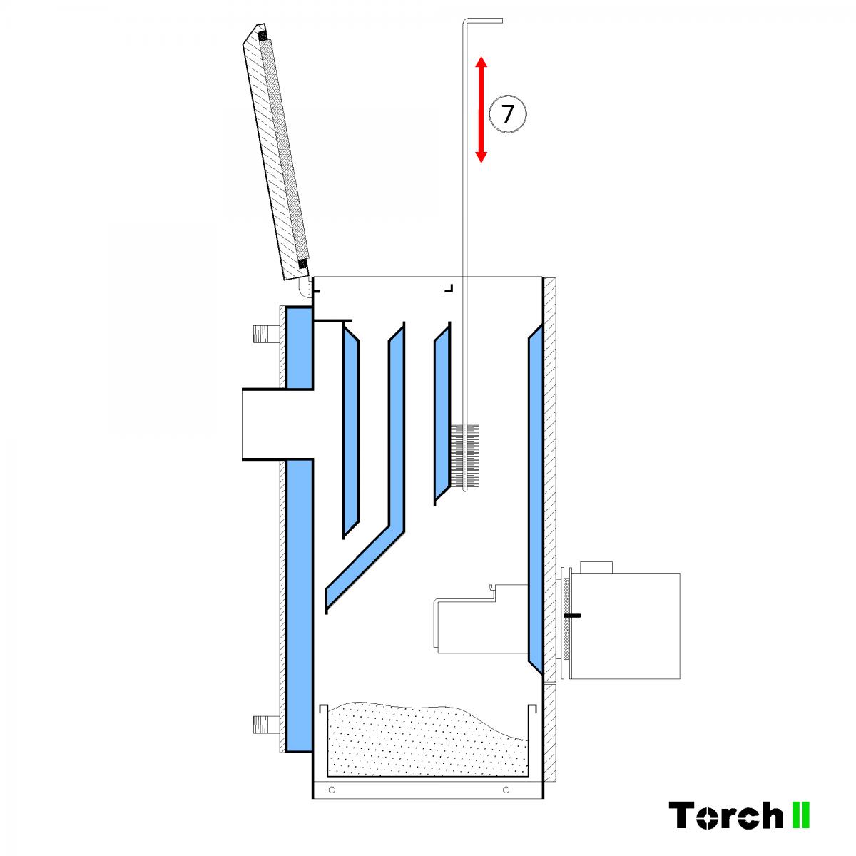 Почистване на пелетен котел Torch II - стъпка 7