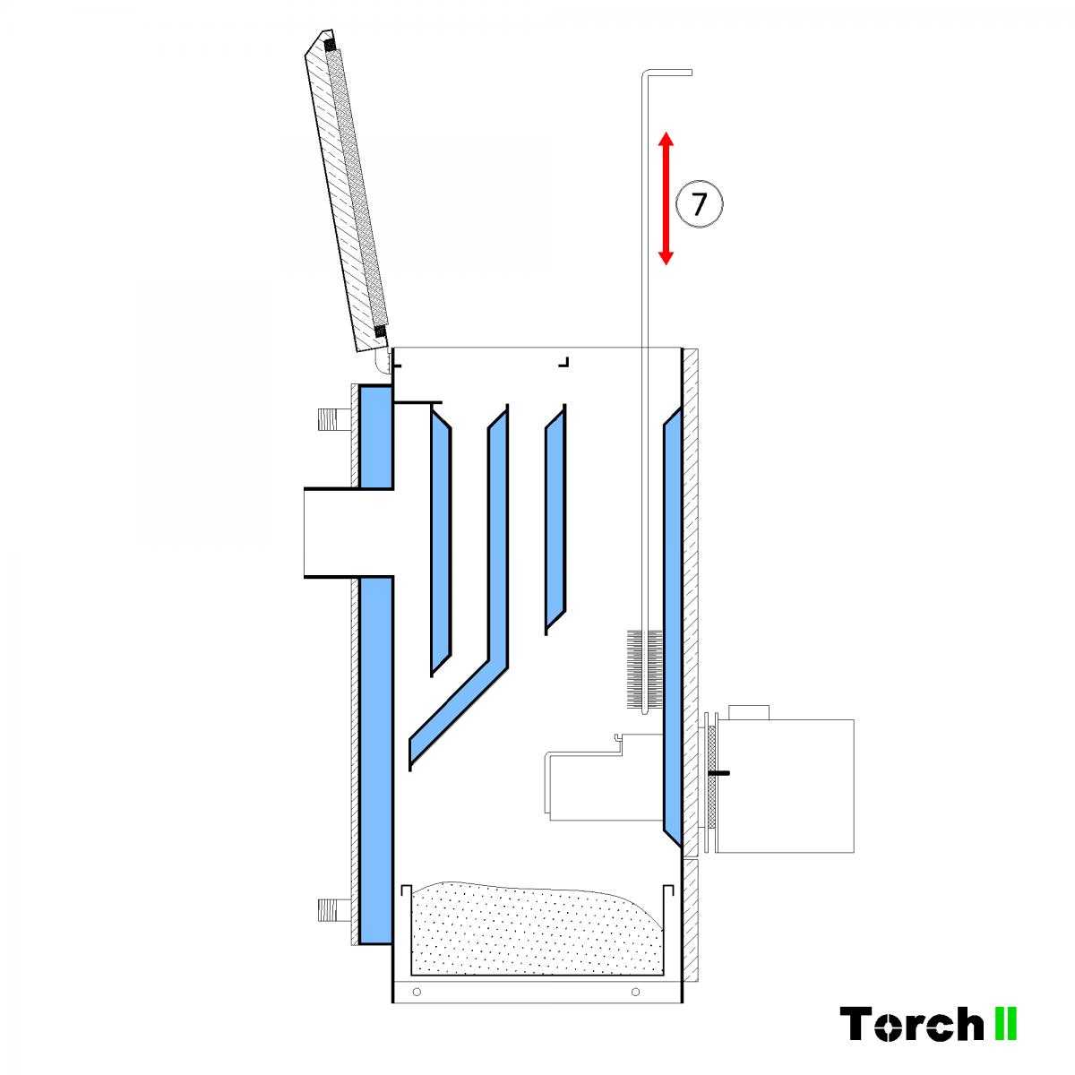Почистване на пелетен котел Torch II - стъпка 8