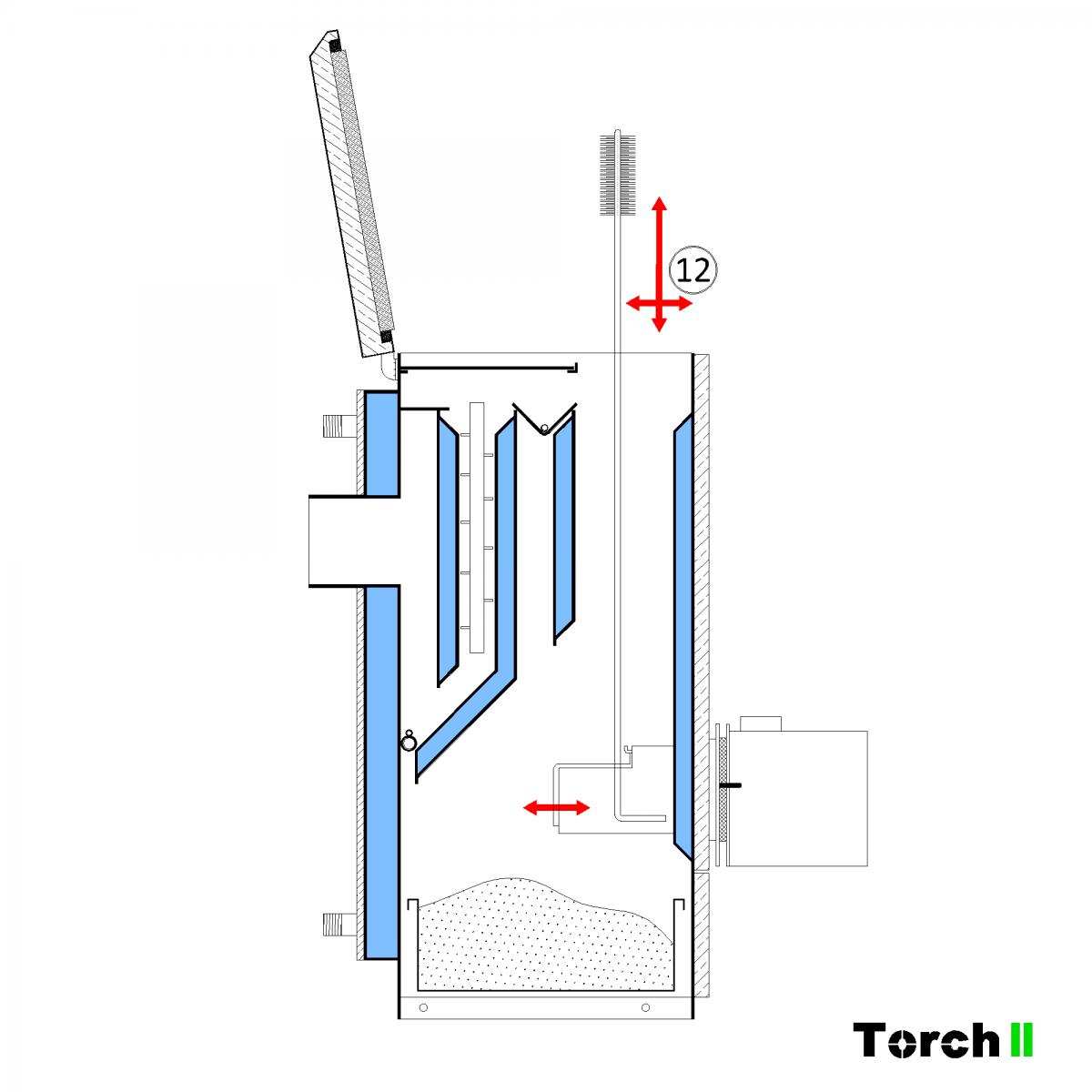 Почистване на пелетен котел Torch II - стъпка 11
