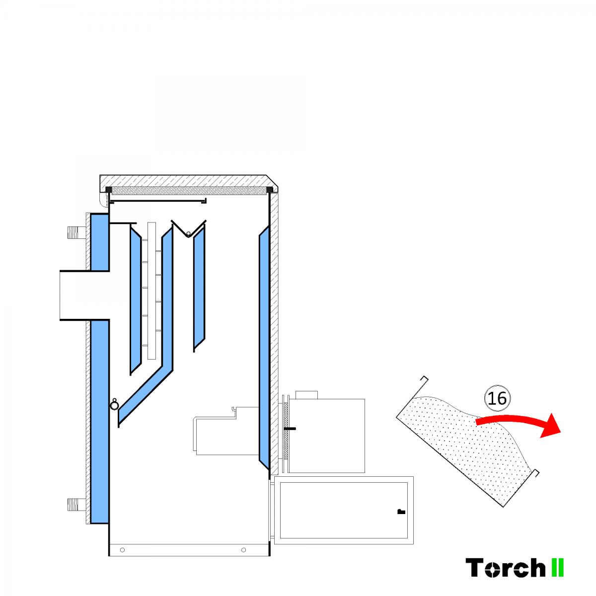 Почистване на пелетен котел Torch II - стъпка 13
