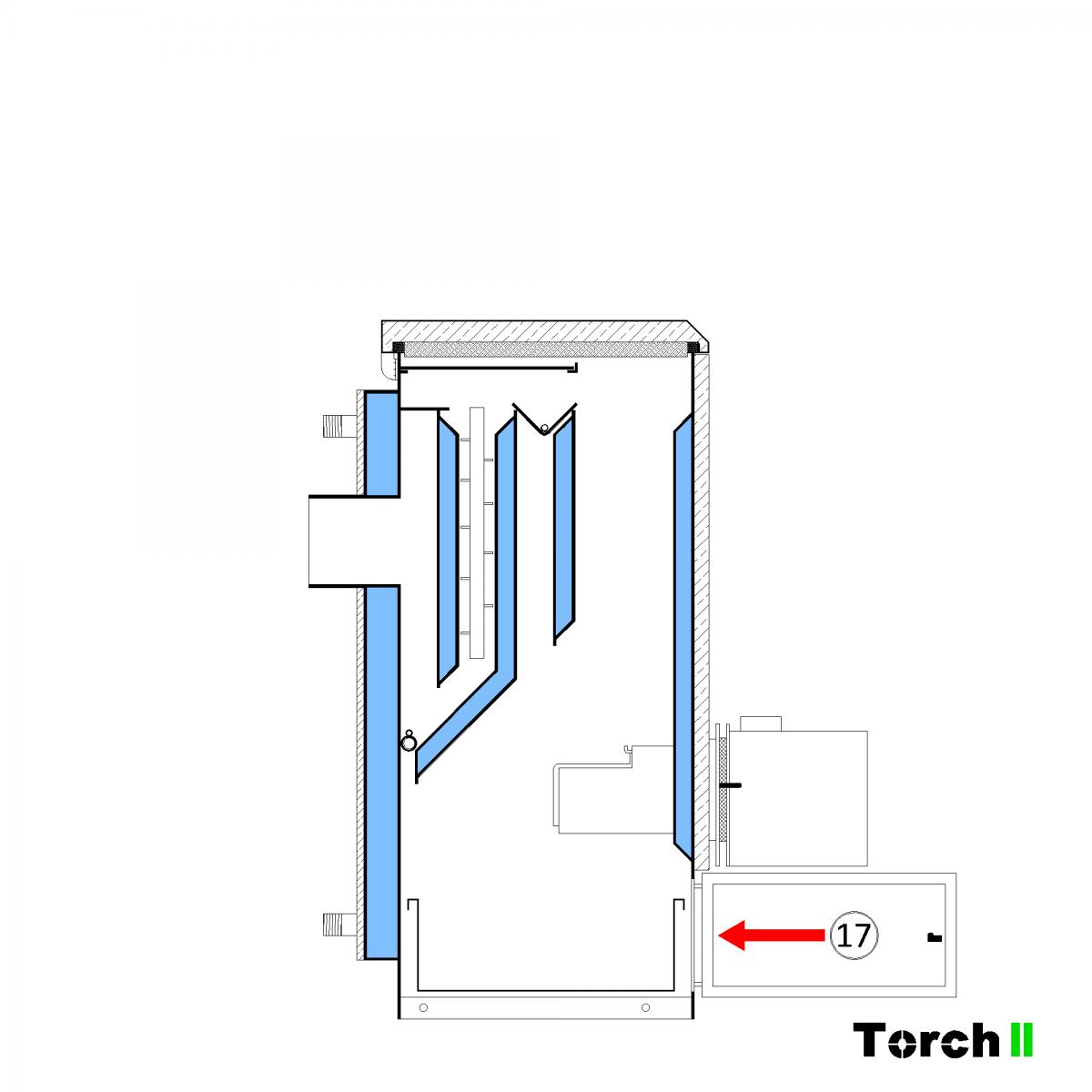 Почистване на пелетен котел Torch II - стъпка 14