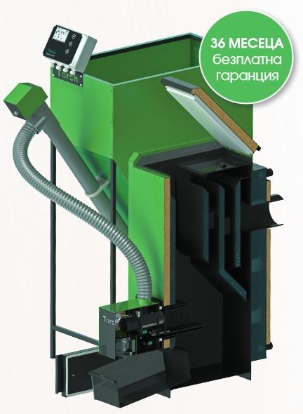 Пелетен котел Torch II 20kW с пелетна горелка Torch II 3-20kW